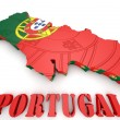 Map illustration of Portugal with map — Stock Photo #53935847