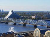 The panorama view of Riga, Latvia — Stock Photo