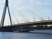 River Daugava to Vansu Bridge — Stock Photo