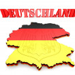 Map of Germany with flag — Stock Photo #56163441