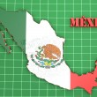 Map illustration of Mexico with flag — Stock Photo #56499421