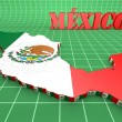 Map illustration of Mexico with flag — Stock Photo #56499485
