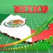 Map illustration of Mexico with flag — Stock Photo #56499549