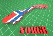 Map illustration of Norway — Stock Photo