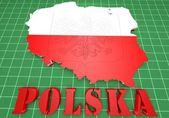 Map illustration of Poland — Stock Photo