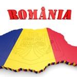Map illustration of Romania — Stock Photo #56500359