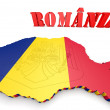 Map illustration of Romania — Stock Photo #56500383