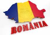 Map illustration of Romania — Stock Photo