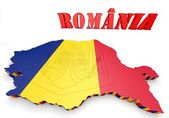 Map illustration of Romania — ストック写真