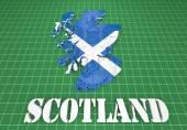 Scotland map flag 3d illustration — Stock Photo
