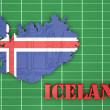 Map illustration of Iceland with flag — Stock Photo #57603631