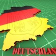 Map of Germany with flag — Stock Photo #57602587