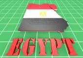 Afbeelding van de kaart van egypte met kaart — Stockfoto