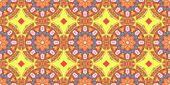 Ethnic pattern. Abstract kaleidoscope  fabric design. — 图库照片