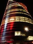 Modern buildings in red colours — Stock Photo