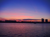 View of Riga river and Vansu Bridge — Stock Photo