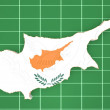 Map illustration of Cyprus — Stock Photo #58976809