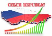 Map illustration of Czech Republic — Stock Photo