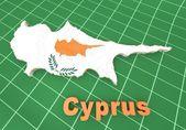 Map illustration of Cyprus — Stock Photo