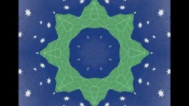 White Abstract  Ethnic pattern kaleidoscope - fabric design. — Стоковое видео