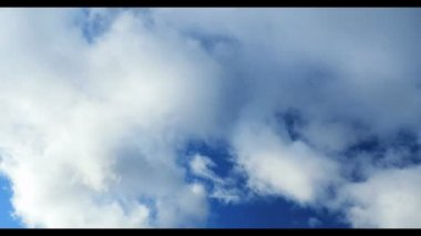 Clouds with blue sky — Stock Video