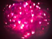 Heart bokeh background, Valentine's day — Stockfoto