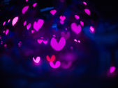 Heart bokeh background, Valentine's day — Stock Photo
