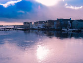 Panorama of Athlone city and the Shannon river — 图库照片