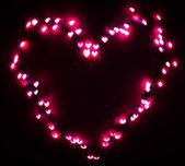 Heart bokeh background, Valentine's day — Stock Photo
