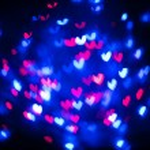 Heart bokeh background, Valentine's day — Stock Photo #63943009