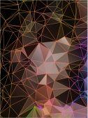 Красочный многоугольный мозаичный фон — Стоковое фото