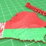 Map illustration of Belarus — Stock Photo #65354209