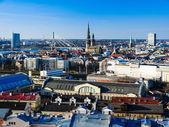 RIGA, LATVIA - Panorama of the Old Town in Riga. — Stock Photo