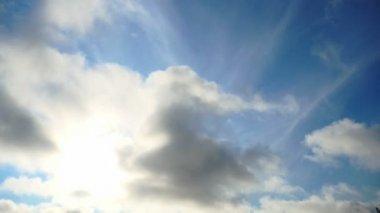 太陽嵐の雲を微速度撮影 — ストックビデオ