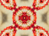 Этнический образец. абстрактный дизайн ткани калейдоскопа. — Стоковое фото