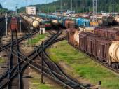 Demiryolu, vagon, demiryolu, tren — Stok fotoğraf