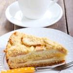 Slice of apple cheesecake — Stock Photo #51842535