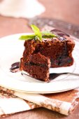 Prune and chocolate torte — Stock Photo