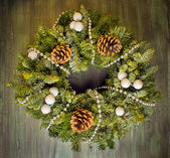 De kroon van kerstmis groen — Stockfoto