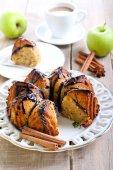 Spelt apple ring cake  — Stock Photo