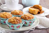 Carrot and apple muffins — Stock fotografie