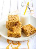 Pumpkin and oat bars  — Stock Photo
