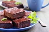 Chocolate and pumpkin brownie slices — Stock Photo