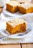Pumpkin coffee cake  — Stock Photo