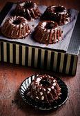 Chocolate mini bundt cake — Foto de Stock