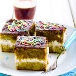 Green tea cake — Stock Photo #58726843