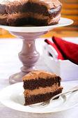 Double chocolate cake — Stock Photo
