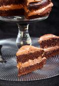 Pastel de chocolate doble — Foto de Stock