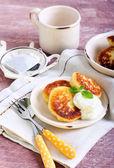 Tortitas de queso cottage — Foto de Stock