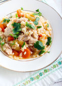 Chicken breast and vegetable casserole  — Stock Photo
